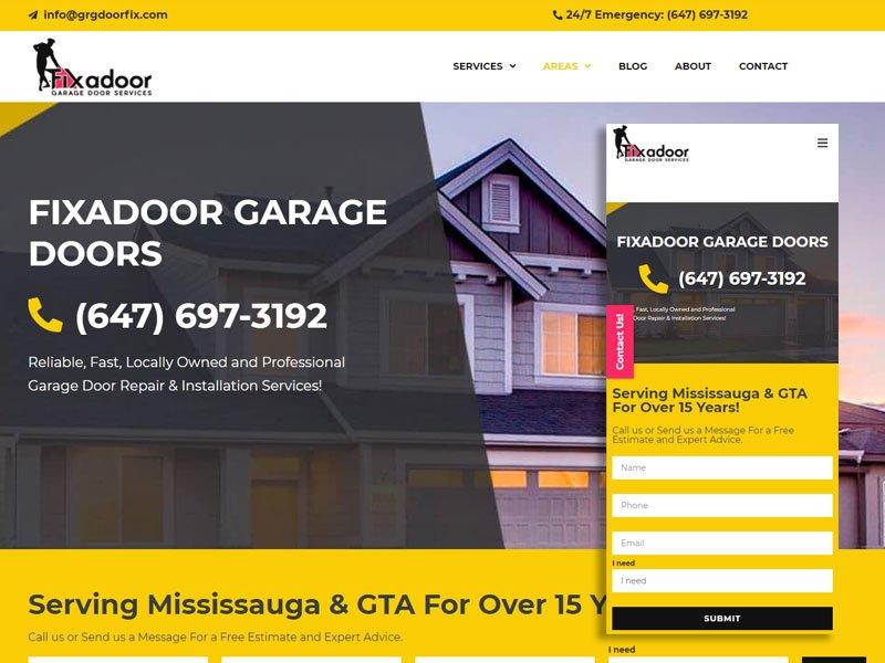 פיתוח נכס דיגיטלי וקידום אתר בקנדה Fixadoor