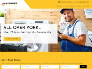 פיתוח וקידום נכס דיגיטלי בקנדה A1 Appliance Repair
