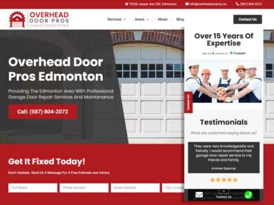 פיתוח וקידום נכס דיגיטלי בקנדה Overhead Door Pros Edmonton