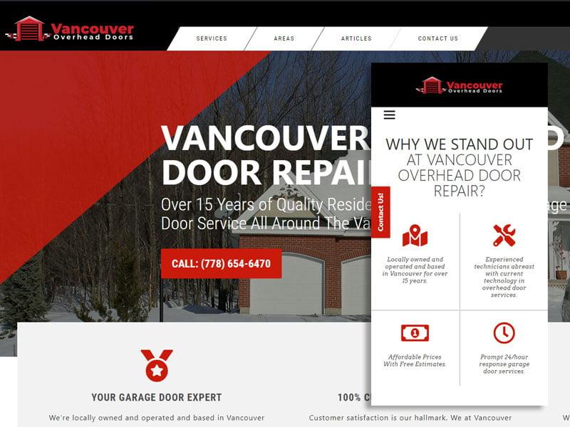 פיתוח וקידום נכס דיגיטלי בקנדה Vancouver Overhead Door Repair