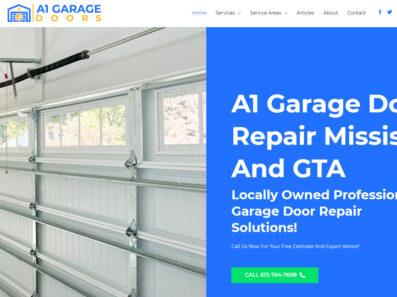 פיתוח נכס דיגיטלי וקידום אתר בקנדה A1 Garage Door Repair Mississauga