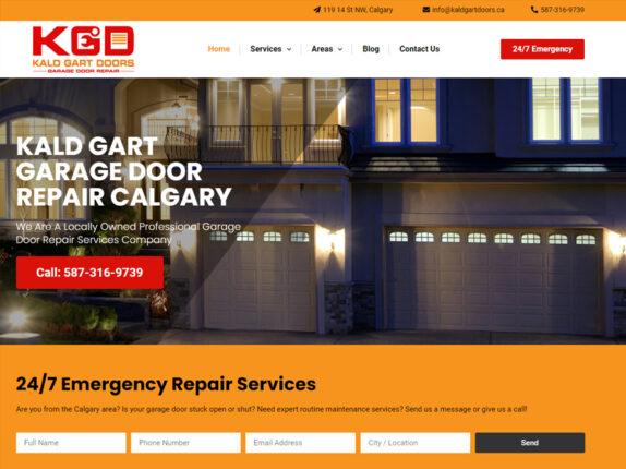 פיתוח וקידום נכס דיגיטלי בקנדה KALD GART GARAGE DOORS